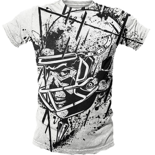 Grunge t-shirt with the title 'VINTAGE FOOTBALL DESIGN CONTEST'