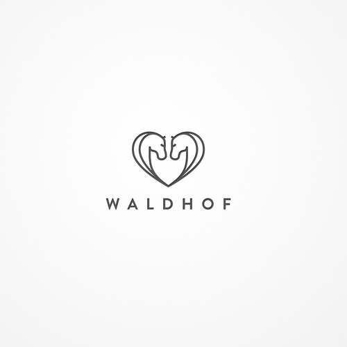 Horse brand with the title 'Logodesign Waldhof'