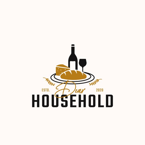 Bread design with the title 'Dear Household'