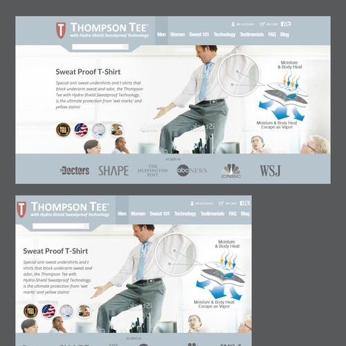 Slider design with the title 'Create slider banner for Thompsontee.com'