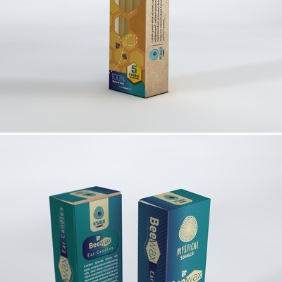 packaging box for ear wax candles