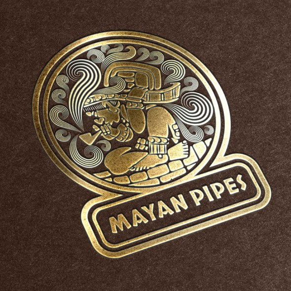 Mayan logo with the title 'Mayan Pipes'