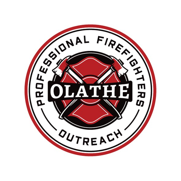 Charity brand with the title 'Vintage Logo for Firefighter Charity'