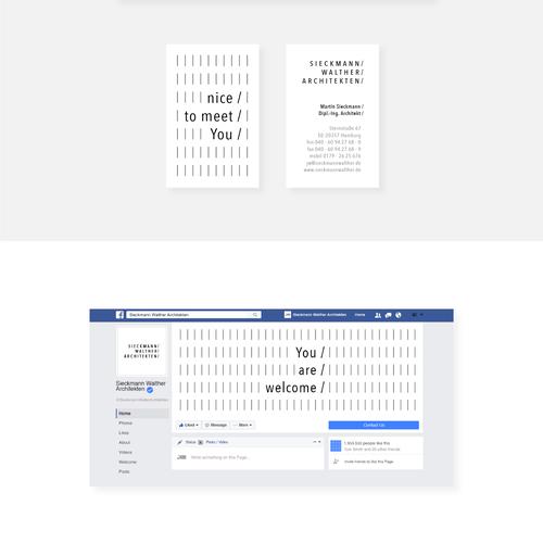 Conceptual brand with the title 'Minimalistic Corporate Identity Concept for Architecture Studio'