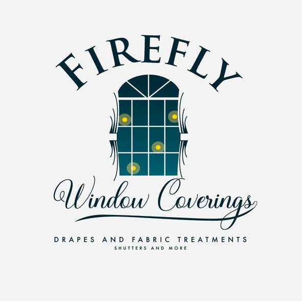 Blinds logo with the title 'Firefly Window Coverings'