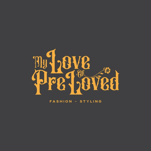 Classic logo with the title 'My Love Of PreLoved'