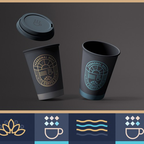 Art Nouveau design with the title 'Personal Best Coffee - Brand Design'