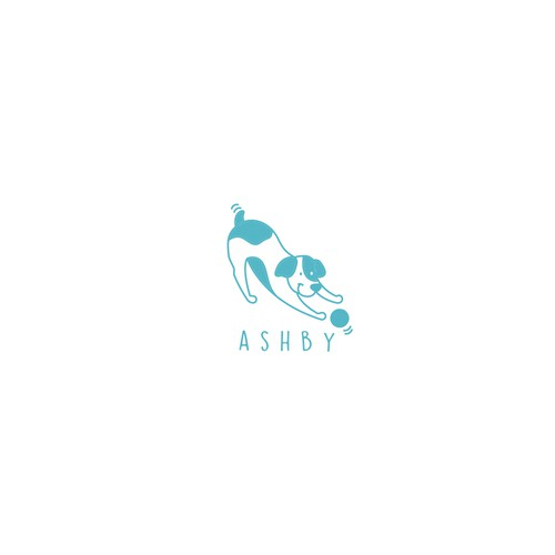 Friend design with the title 'Ashby pet logo'
