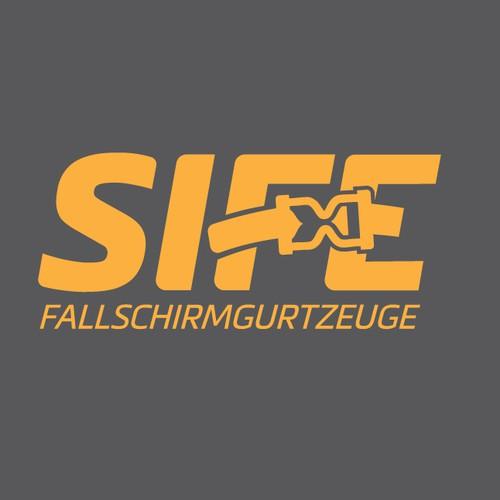 Parachute logo with the title 'Erstellt ein Logo für Fallschirmspringer'