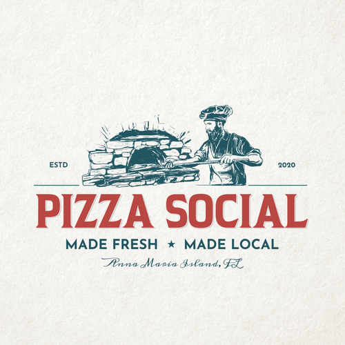 Oven logo with the title 'Pizza Social'
