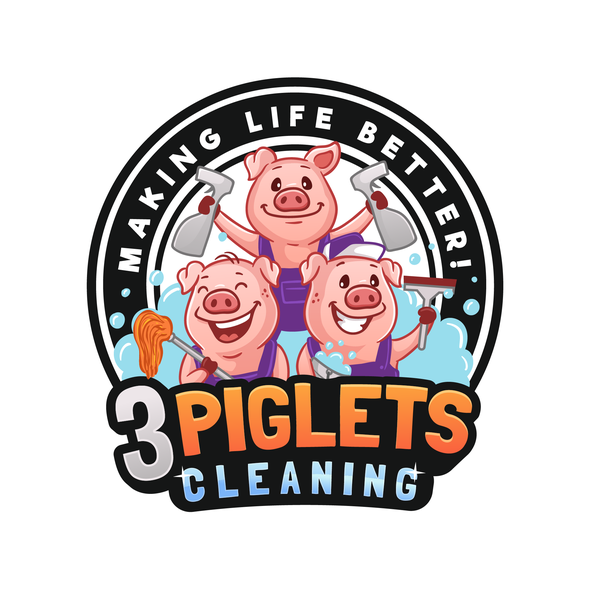 Cleaning brand with the title '3 Piglets Cleaning '