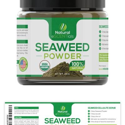 Seaweed Powder Label