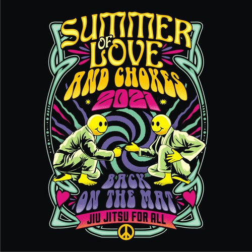 Sports t-shirt with the title 'Summer of love'