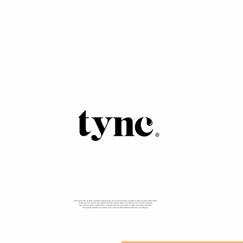 New logo with the title 'tync'