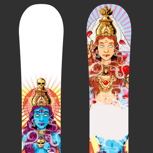 Snowboarding design with the title 'Snowboard design'
