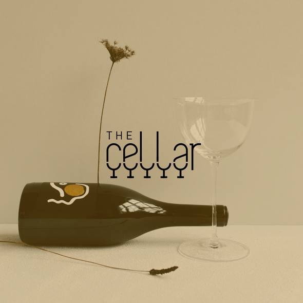 Wine bar design with the title 'The cellar'
