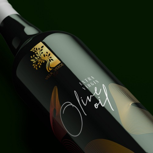 Label packaging with the title 'Label for Extra Virgin Olive oil'
