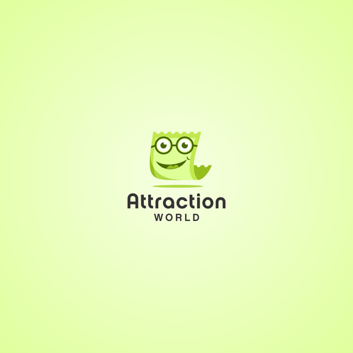 Attraction design with the title 'Logo design concept for Attraction World'