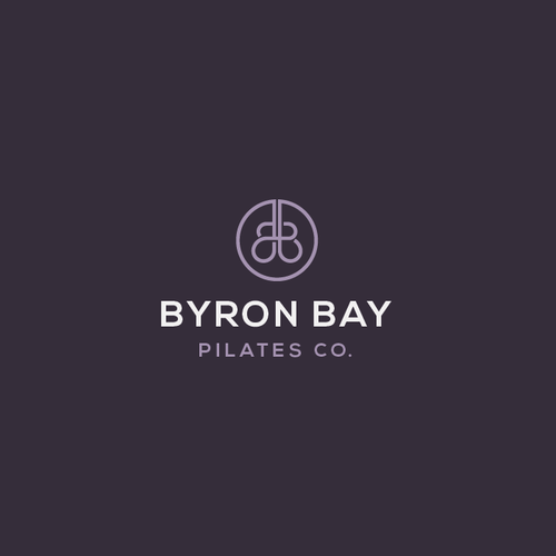 Pilates design with the title 'Byron Bay Pilates co.'
