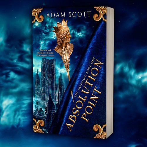 Historical fiction book cover with the title 'Book cover design - Absolution Point by author Adam Scott'