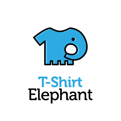 Pictogram logo with the title 'Logo T-Shirt Elephant'