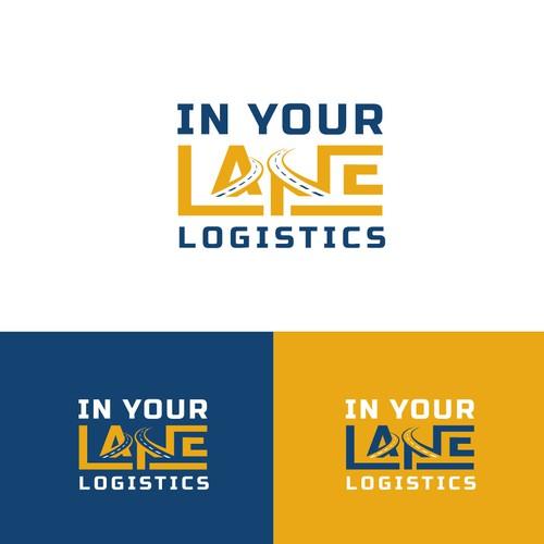 Logistics brand with the title 'logistics logo design'