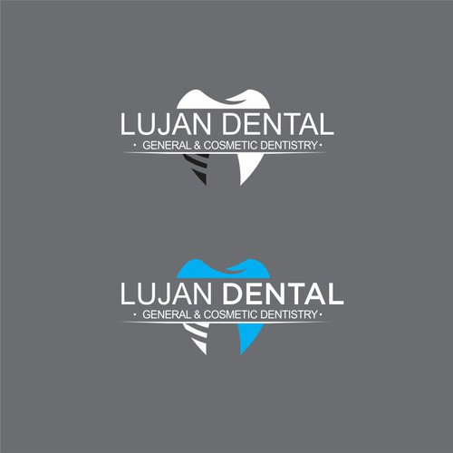 Implant logo with the title 'dental logo design'