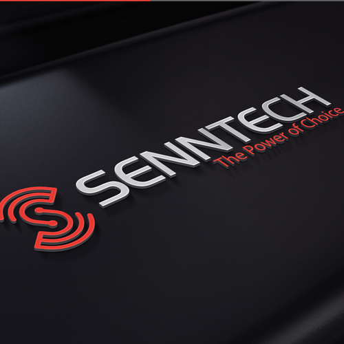 Tech design with the title 'Senntech Logo Design'