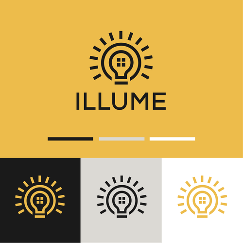 Lightning design with the title 'ILLUME'