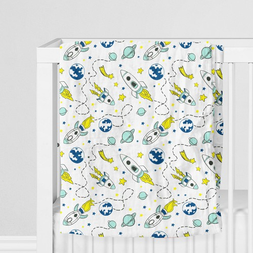 Swaddle design with the title 'Patterndesign for baby blankets '
