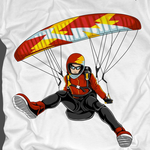 Awesome t-shirt with the title 'Parargliding around the world tee'