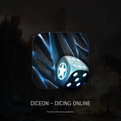 Diceon iOS App Icon (Dicing Online)