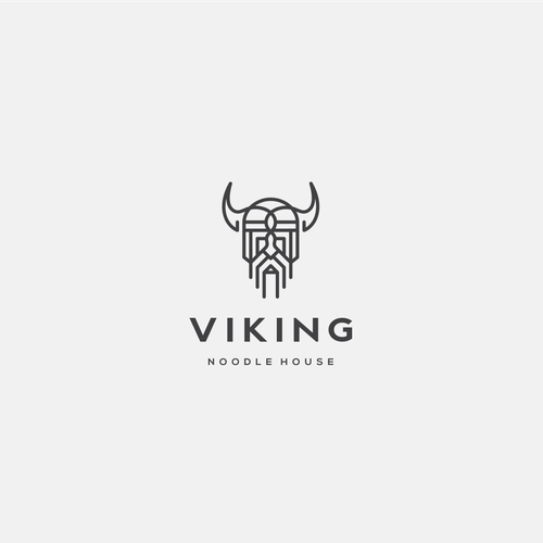 Nordic logo with the title 'Lineart Viking'