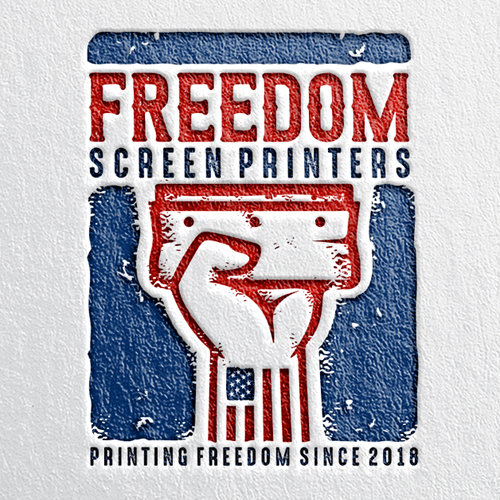 Freedom logo with the title 'Freedom Screen Printers'