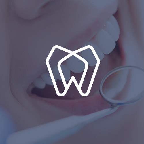 Tooth logo with the title 'dental monoline concept'