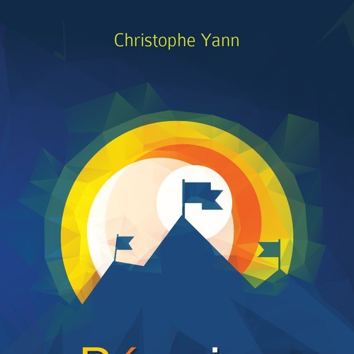 Low poly design with the title 'Book Cover about achieving succes in your life'