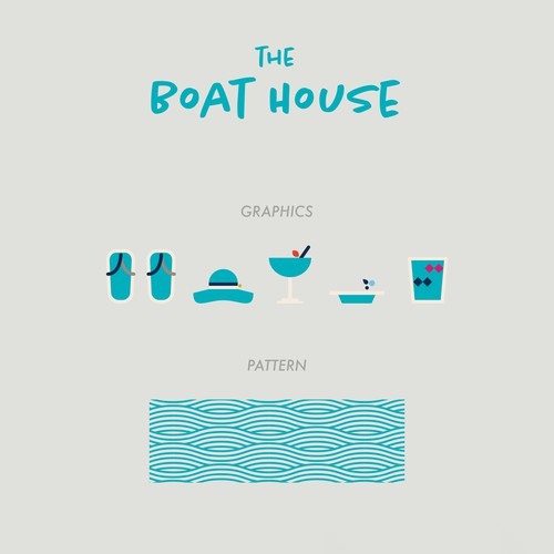 Luxury artwork with the title 'The Boat House Branding'