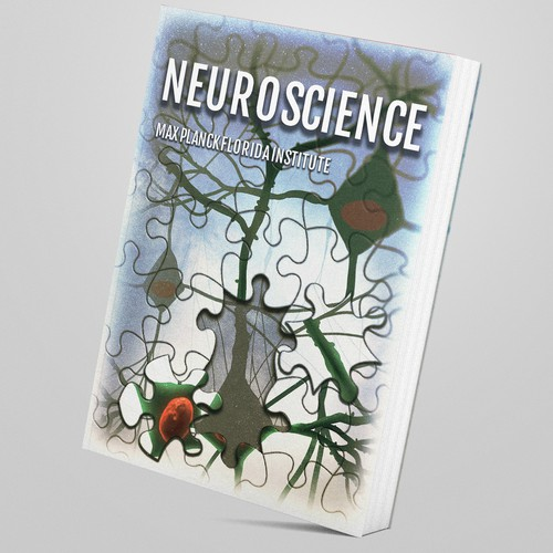 Research illustration with the title 'Neuroscience Book Cover Design'