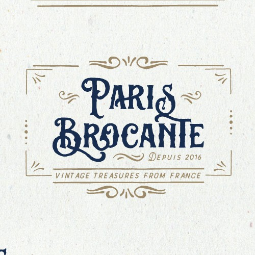 Antique logo with the title 'Logo design'