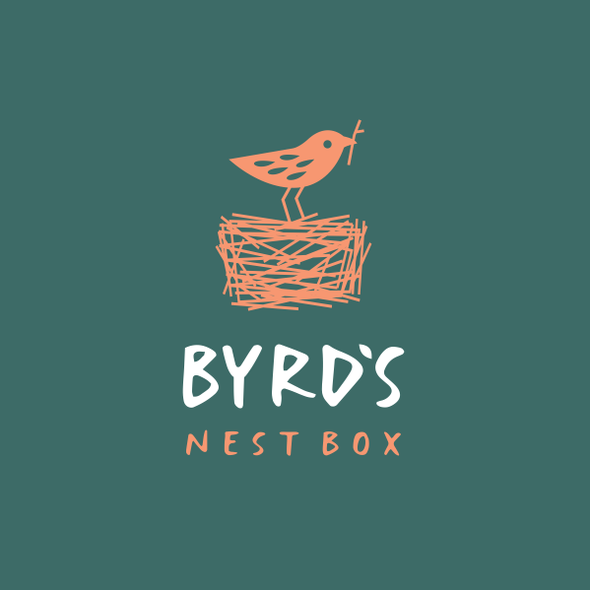 Bird logo with the title 'BYRD'S NEST BOX'