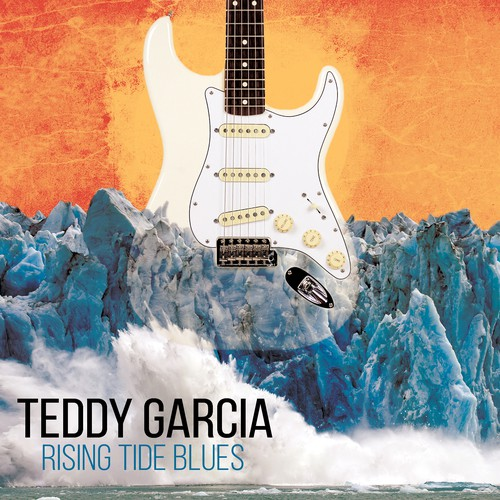 Guitar artwork with the title 'Rising Tide Blues CD Artwork '