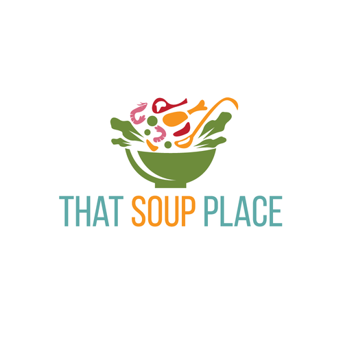 Bowl logo with the title 'That Soup Place logo'