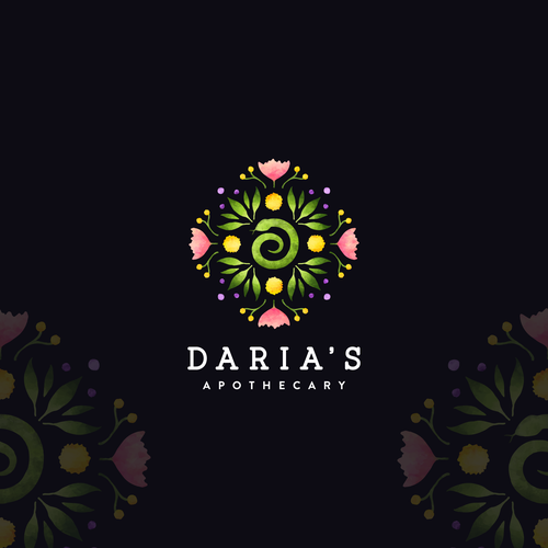 Apothecary logo with the title 'Daria's Apothecary'