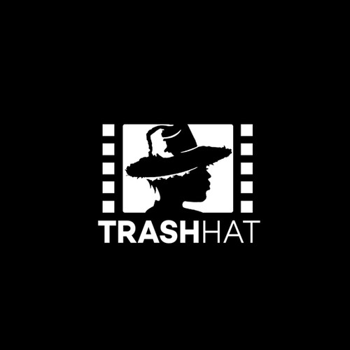 Garbage and trash logo with the title 'Trash Hat'