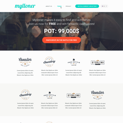 Coding website with the title 'Web design for new Raffle / Lottery website'