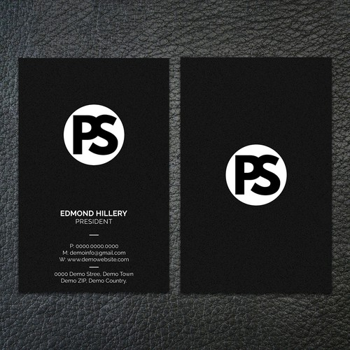 Vertical design with the title 'Classy Business Card'