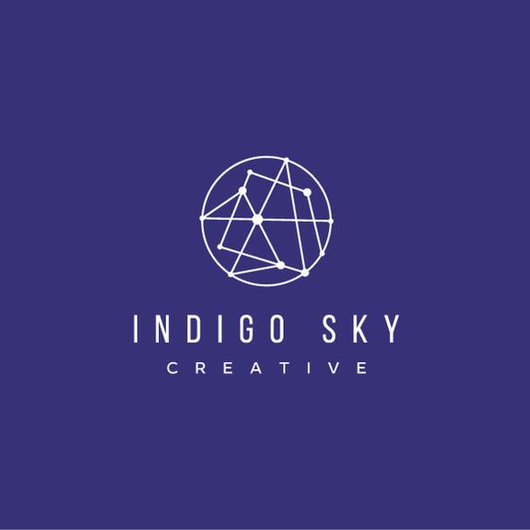Constellation design with the title 'Indigo Sky'
