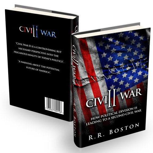 War book cover with the title 'patriotic design for new book'