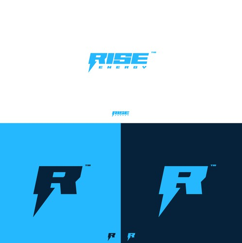 Lighting design with the title 'Rise Energy'