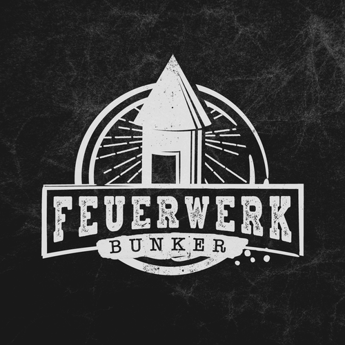 Online shop design with the title 'Feuerwerk Bunker'